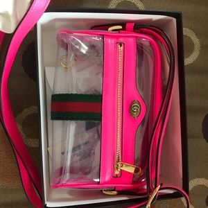 Gucci Ophidia Transparent Crossbody Bag. Like New.